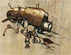 Klik Cog Cleaner   Steampunk Art by Chris Miscik