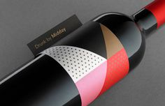 wine, bottle, midday, abstract, dots, clean