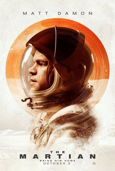 matt damon the martian movie cinema poster