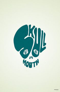 http://farm3.staticflickr.com/2015/2536647589_196e561dd4_z.jpg?zz=1 #skull #lettering #typography
