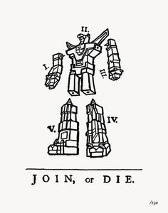 """Join or Die""by OLLY MOSS #illustration #poster #anima"