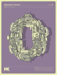 MEKKANIKA on the Behance Network #mechanical #riccardo #mekkanika #technical #sabatini #typography