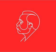 Alfred Nobel #illustration #line #red