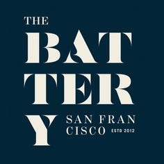 New Logo and Identity for The Battery by MM #serif #san #brand #navy #francisco #logo #blue #california #typography