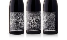 Nagging Doubt Wines #type #bottle #product #typography