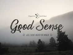 Good_sense_outfitters_dribbble #logo #typography