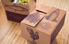 Mucca | Work| Butterfield Market #market #packaging #butterfield #box #food #grocery #identity #catering