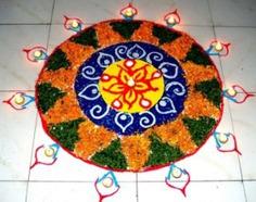 Enlighten Rangoli Design