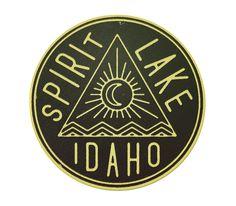 Spirit Lake The Everywhere Project #vintage #label #idaho #travel