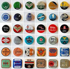 Typewriter Ribbon Tin Collection - BOOOOOOOM! - CREATE * INSPIRE * COMMUNITY * ART * DESIGN * MUSIC * FILM * PHOTO * PROJECTS #type #typewriter #typography