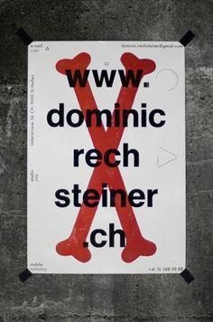 www : dominic rechsteiner #poster #design #graphic #identity