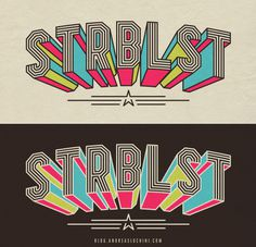 """STRBLST"" #handmade #typography #retro #oldschool"