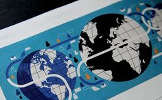 Global Communication. Client: Fortune | The Visual Work Of Mike Lemanski #blue #illustration #world