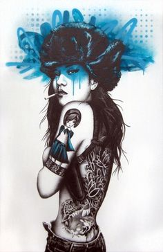 Urban Female Graffiti by Fin Dac | 123 Inspiration #street #graffiti #urban #fin dac
