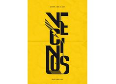 Poster / BACHSxc2xb7HAVxc2xb7VLC #poster #typography