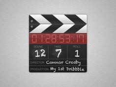 Dribbble - Clapboard Slate by Connor Crosby #clapboard