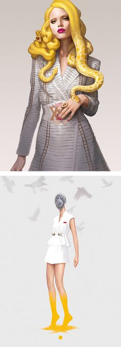 Fashion Illustrations by Ignasi Monreal | Inspiration Grid | Design Inspiration