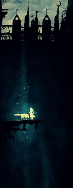 Animus by Rudrik #animus #illustration #light #silhouette #glow #dark #shadow
