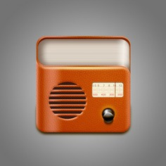 Vintage leather radio icon psd Free Psd. See more inspiration related to Vintage, Icon, Radio, Sound, Psd, Leather, Material and Psd material on Freepik.