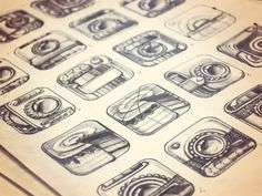 iPhone App Icon Sketches by Ramotion