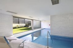 Indoor/outdoor pool? Yes, please. #architecture #home