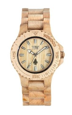 wewood DATE beige | WeWOOD #design #wood #product #natural #watch