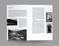 "Monograph ‒ ""A Rua do Burgo de Entre os Rios"" on Behance #pages #design #greyscale #grid #spread #editorial"