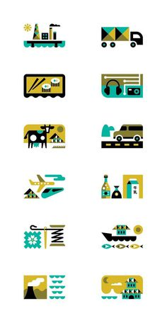 Monocle by Ty Wilkins, via Behance #icon #illustration #geometric