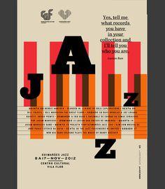 Martino & Jaña: Guimarães Jazz 2012 #jazz #design #graphic