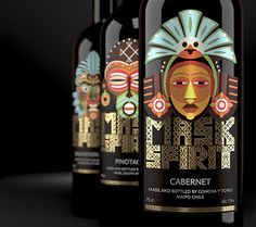 Mask Spirit. Collection of New World wines #packaging #design #wine #label #masks