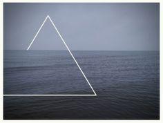 Elemental symbols - morecambe bay,photo,sea,triangle,ocean,waves,fog