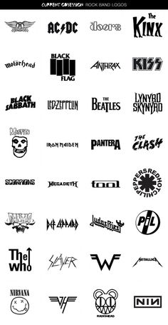 Rock Band Logos | Cool Material #lettering #rock #design #logo #type #band #typography