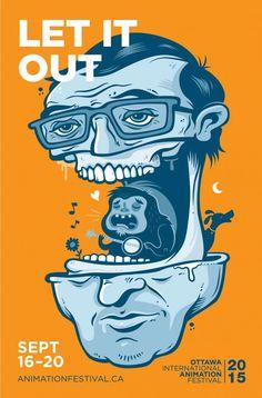 #poster #heard #orange #illustration