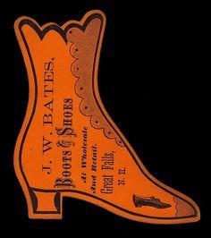 J. W. Bates | Sheaff : ephemera #diecut #typography