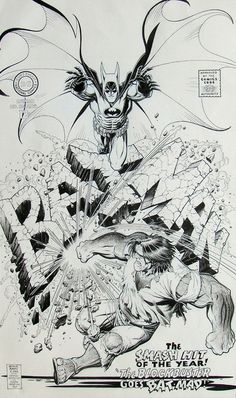 Designersgotoheaven.com Arthur Adams Batman 194 Cover Recreation. #batman