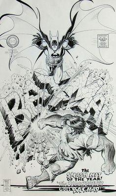 Designersgotoheaven.com   Arthur Adams Batman 194 Cover Recreation.