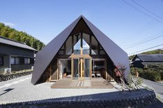 Fascinating Origami House with Architectural Comfort Pockets #architecture