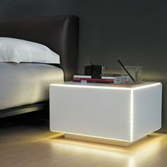 C-Light Bed Side Table And Lamp