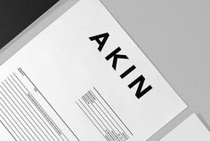 Akin by Alphabet #stationary #print #brand design