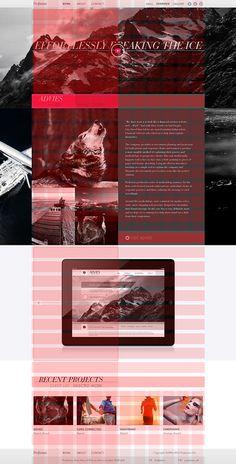 Profission 960 Grid Layout #grid #layout #website #web #digital #2013 #profission