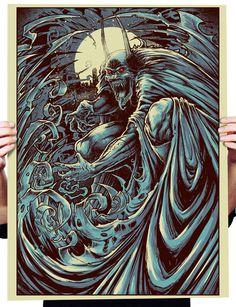 creepy-batman-art-by-godmachine-batman #superhero #dc #cape #gothic #horror #knight #batman #illustration #bat #comics #dark
