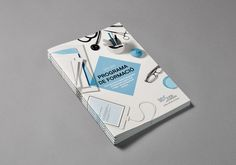 COMB training program 2013 #white #book #cover #grid #photography #medical #layout