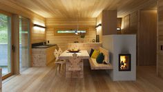 An alpine lodge and adjacent sleeping cabin in the alps of South Tyrol, Italy. Together they have 3 bedrooms in 1,399 sq ft. | www.facebook.