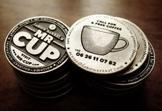 Mr Cup metal buisness card coin #coffee