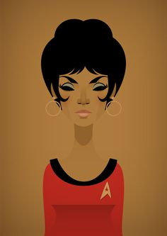 Lieutenant Uhura, by Stanley Chow #inspiration #creative #design #graphic #trek #illustration #brown #star