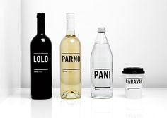 Inhouse #caravan #packaging #typography #design #minimal #drinks #inhouse #new