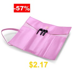 Retro #Leather #Pencil #Bag #with #3 #Pen #- #PINK