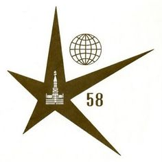 expo+58+star+logo.jpg (JPEG Image, 399x400 pixels) #logo #design #globe #star