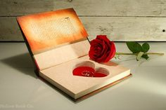 Hollow Book Safe w/ Heart Shape The Secret by HollowBookCo #heart #valentines #safe #book #love