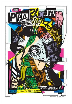 Pearl Jam Manchester, UK 2012 #jam #bros #ames #illustration #poster #pearl